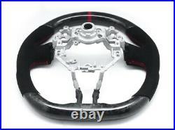 Forged Carbon Steering Wheel for 12-16 Scion FRS Subaru BRZ Alcantara Red Stripe