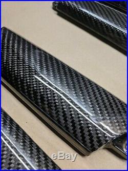 Genuine MINI JCW carbon fibre interior door handle trim covers R56 R55 R57 R58