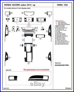 Honda Accord 2013-2017 4dr Sedan Real Carbon Fiber Dash Kit Interior Auto Trim
