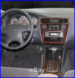 Honda Accord LX Ex 2 Door 4 Door Interior Wood Dash Trim Kit Set 1998 1999 2000
