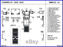 Hummer H2 2003-2007 Real Carbon Fiber Dash Kit Trim Interior Auto Kit