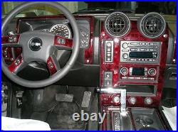 Hummer H2 H-2 H 2 Interior Burl Wood Dash Trim Kit Set 2003 2004 2005 2006 2007