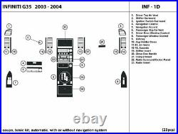 INF-1D Carbon Fiber Dash Trim Kit for Infiniti G35 coupe 2003-2004 interior