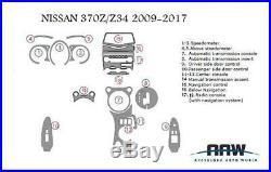 Interior Carbon Fiber Dash Trim Kit 09 2010 2011 2012 For Nissan 370z 370 Z Z34
