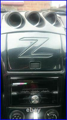 Interior Carbon Fiber Dash Trim Kit Set For Nissan 350z 350 Z Z33 2006 2007 2008