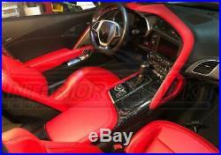 Interior Real Carbon Fiber Dash Trim Kit For Chevy Corvette C7 2017 2018 2019