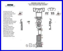 Interior Real Carbon Fiber Dash Trim Kit For Nissan 350z 350 Z Z33 2006 07 2008