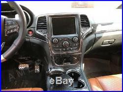 Jeep Grand Cherokee Interior Real Carbon Fiber Dash Trim Kit Set 2011 2012 2013
