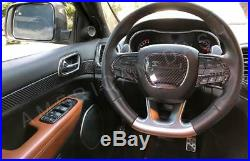 Jeep Grand Cherokee Interior Real Carbon Fiber Dash Trim Kit Set 2014 2015 2016
