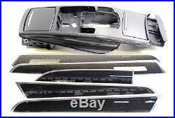 LHD EU AUDI RS6 S6 A6 4F C6 Carbon Fiber Decor Interior Trim Moulding Set Memory