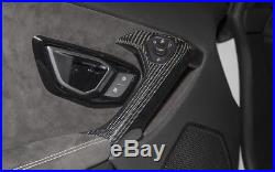 Lamborghini Huracan carbon fiber interior door handle covers