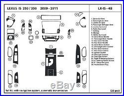 Lexus IS 250/300 2009-2011 with nav Real Carbon Fiber Dash Kit interior auto