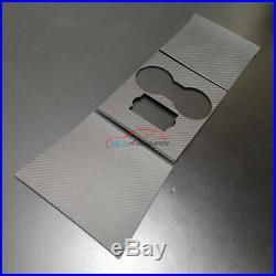 Matte Carbon Fiber For Tesla Model 3 Interior Gear Shift Cup Holder Cover Trim