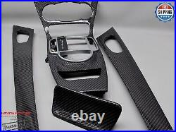 Mercedes 05-11 R230 SL500 SL550 SL65 SL350 SL600 Gloss Carbon Interior Trim Kit