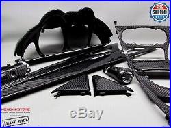 Mercedes 05-11 R230 SL550 SL65 SL600 SL350 Gloss 11 Pcs Carbon Interior Trim Kit