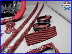 Mercedes 06-09 W209 CLK63 AMG CLK550 CLK500 14 pc Red Carbon Interior Trim Kit