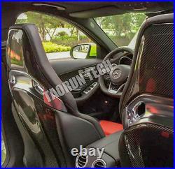 Mercedes Benz Carbon Fiber Interior Back Seat Cover Trim for W205 C63