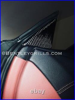 Mercedes Benz SL R230 Carbon Fiber Interior Side Mirror Backs Genuine Carbon