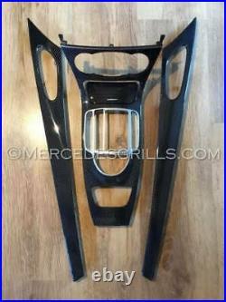 Mercedes Benz SL R230 Carbon Fiber Interior Trim Genuine Carbon Fiber 2002-2011