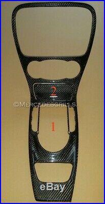 Mercedes SL R230 Carbon Fiber Ash Tray Cover Interior Trim Part AMG, 2002-2011
