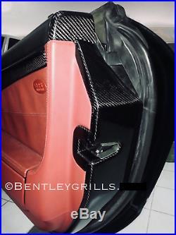 Mercedes SL R230 Carbon Fiber Fibre Interior Door Jam Plates + Lock Covers