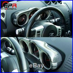 Nissan 350Z Z33 Tuning Carbon Fiber Dial Dash Cover Interior Parts For Nissan 35