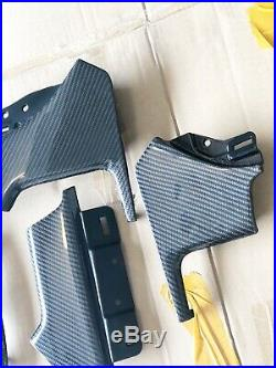 OEM TESLA MODEL S P90D P100D 75 90 GLOSSY Carbon Fiber Interior Dash Trim Panels