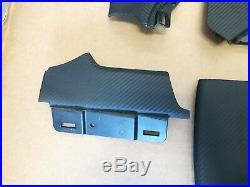 OEM TESLA MODEL S P90D P100D 75 Carbon Fiber Leather Interior Dash Trim Panels