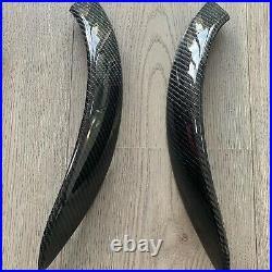 (PAIR) BMW Carbon Fibre Door Handles Interior M3 M4 F30 F31 F32 F33 F80 F82