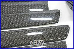 RHD UK AUDI RS6 4B C5 Carbon fiber Decor Interior Trim Moulding Set Black