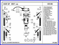 Real Carbon Fiber Dash Trim Kit Set for AUDI Q7 2007-2015 with automatic shifter