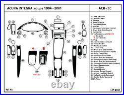 Real Carbon Fiber Dash Trim Kit for Acura Integra Coupe 1994-2001 Interior