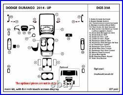 Real Carbon Fiber Dash Trim Kit for Dodge Durango 2014-2020 Interior Dashboard