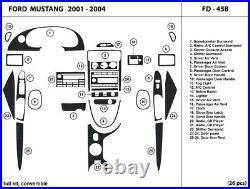 Real Carbon Fiber Dash Trim Kit for Ford Mustang 2001-2004 convertible / FD-45B