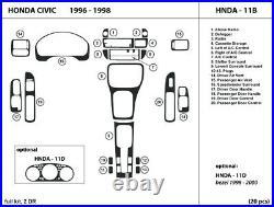 Real Carbon Fiber Dash Trim Kit for Honda Civic Coupe 1996-1998 Interior Overlay