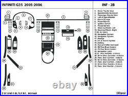 Real Carbon Fiber Dash Trim Kit for Infiniti G35 05-06 with manual shifter INF2B
