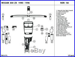 Real Carbon Fiber Dash Trim Kit for NISSAN 300ZX 1990-1996 Interior Dashboard