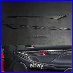 Real Carbon Fiber Interior Door Strip Trim For Lexus RC200 RC F SPORT 2012-2018