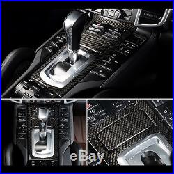 Real Carbon Fiber interior Molding Kit For Porsche Cayenne 20122016