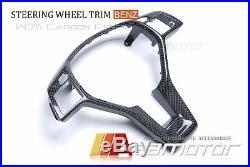 Replacement Mercedes A B C Cla E Cls Slk Sl Glk Carbon Fibre Steering Wheel Trim
