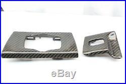 Rhd Bmw E90 E91 E92 E93 Carbon Fiber Dash Accessory 2pc Interior Trim M3