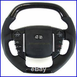 Steering Wheel Black Carbon Fibre fiber Range Rover SPORT 2010 interior flat top
