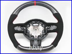 Steering Wheel for 2007-2013 Mini Cooper R55 R56 R58 R59 S Mk2 Carbon Alcantara