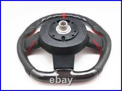 Steering Wheel for 2007-2013 Mini Cooper R55 R56 R58 R59 S Mk2 Carbon Leather