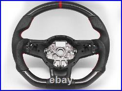 Steering Wheel for 20132020 Volkswagen Golf GTI Mk7 Mk7.5-Carbon Fiber Leather