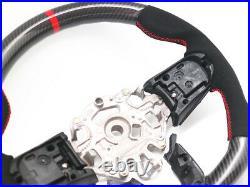 Steering Wheel for 2014-2018 Mini Cooper F56 S / JCW Mk3 Carbon Fiber Alcantara