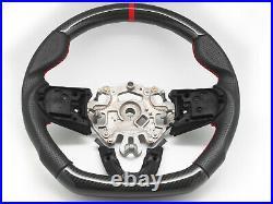 Steering Wheel for 2014-2018 Mini Cooper F56 S / JCW Mk3 Carbon Fiber Leather