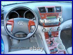 Toyota Highlander Se Sport Hybrid Interior Wood Dash Trim Kit Set 2008 2009 2010
