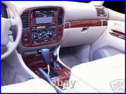 Toyota Land Cruiser Interior Wood Dash Trim Kit Set 1998 98 1999 2000 2001 2002