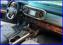 Toyota Tacoma Trd Pro Sport Sr5 Interior Wood Dash Trim Kit Set 2019 2020 2021